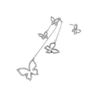 Nye Ankomst Farverige Blomster-formet Lang Drop øreringe